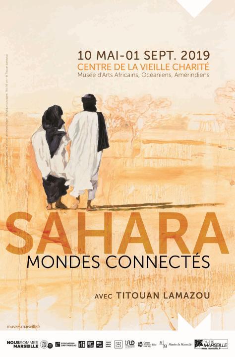 """Affiche de l'exposition """"Sahara mondes connectés"""""""